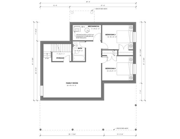 Contemporary-Basement Plan