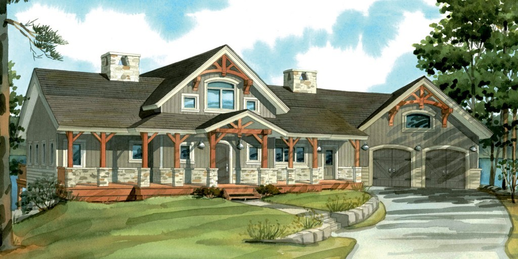 Timber Frame Home Algoma