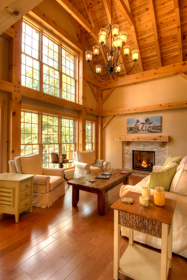 Timber Frame House with Deck The Lanark 3522 Project A Interior