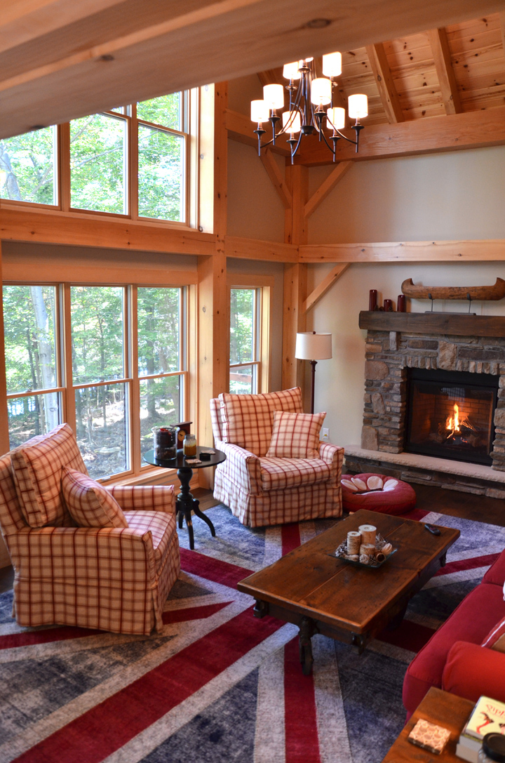 Timber Frame House with Deck The Lanark 3522 Project B Interior