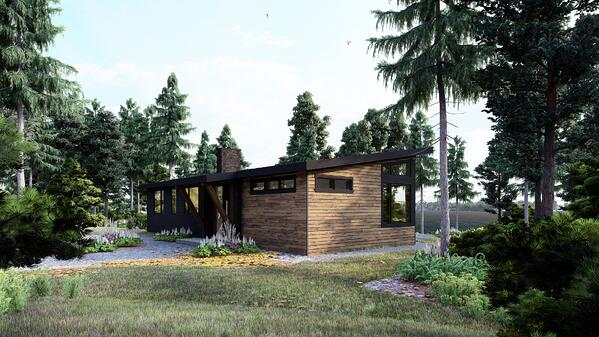 Timber Frame Cottage Designs Plans | The Bayfield 3945 | Normerica | Exterior