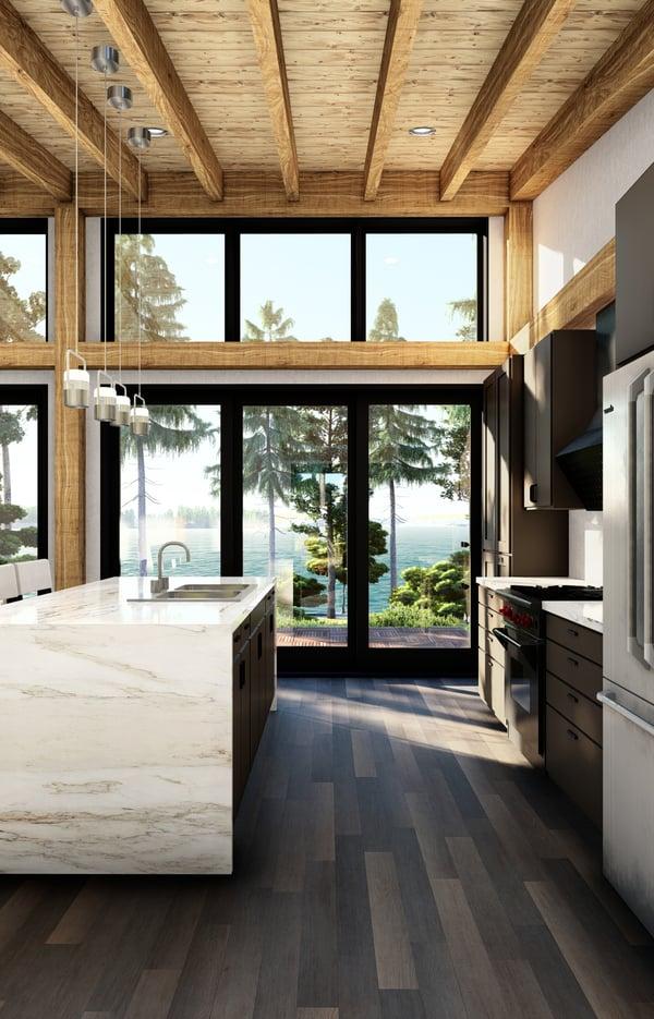 Timber Frame Cottage Designs Plans | The Bayfield 3945 | Normerica | Interior Kitchen 2