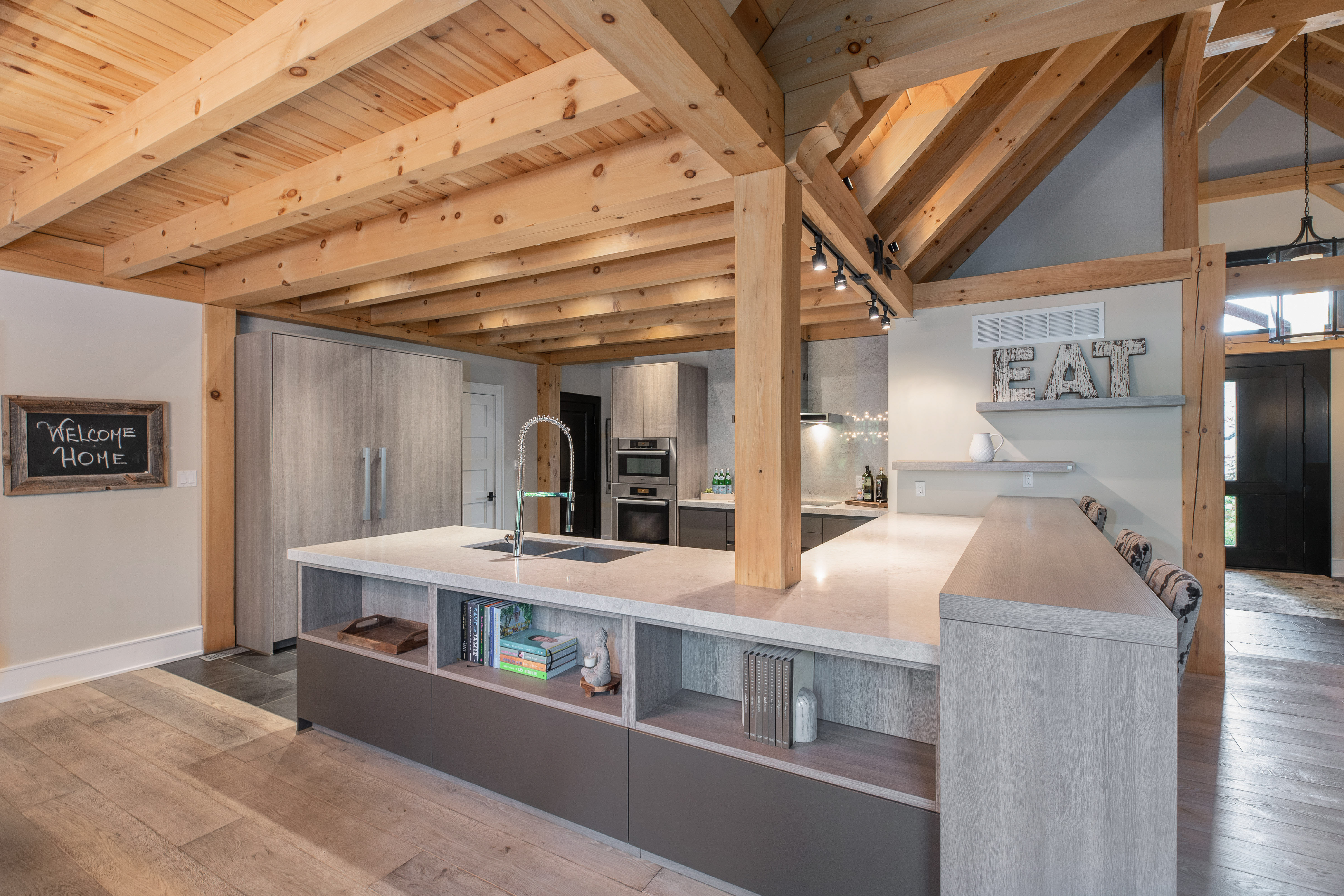 Timber Frame House Plans   The Baycrest   Normerica