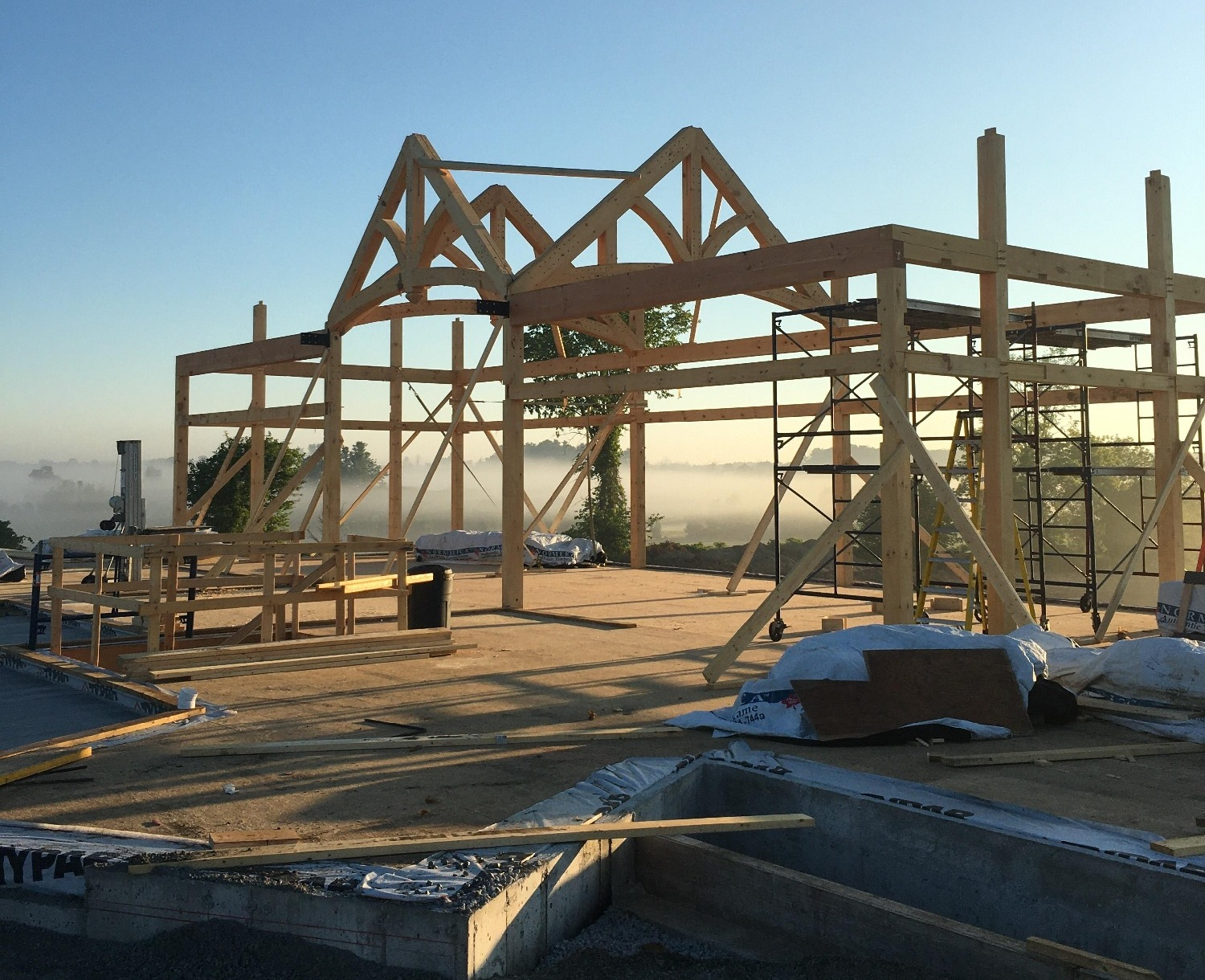 Construction Loan Normerica Timber Frame Homes New Construction Photos Morning View