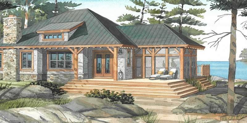 Top 10 normerica custom timber frame home designs the for Timber frame bungalow