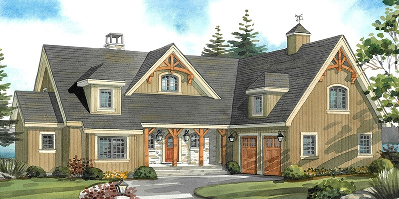 Top 10 Normerica Custom Timber Frame Home Designs: Full 1½ Storey For More Space