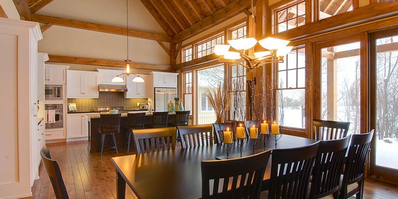Normerica: The Inner Beauty Of a Custom Timber Frame Home